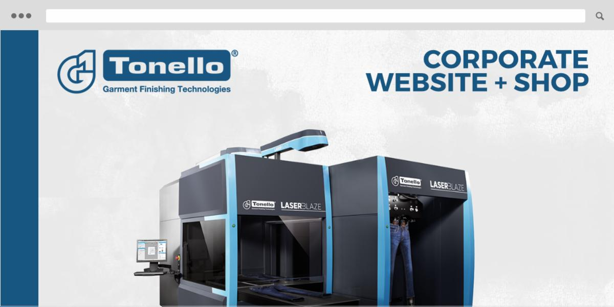 Tonello website + shop disegni laser